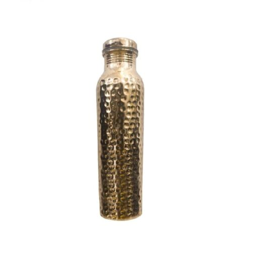 Arts Of Creation Pure Copper Water Bottle/Handmade Copper Vessel for Travel/Insulated Copper Thermos with Ayurvedic Health Benefits Gift Valentine Day Birthday Gift Drink More Water