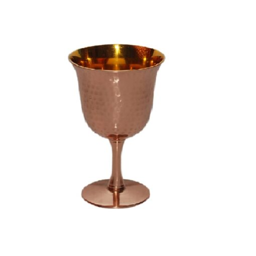 Premium Quality Handmade Copper Wine Goblet/Cup/Glass - 6 oz Kuddish Cup - - Perfect Wine Gift - Great for Moscow Mules - 100% Pure Heavy Gauge Copper - By Alchemade - Copper
