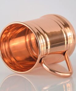PURE COPPER BEER MUG – Unique Tankard Look - Handmade 100% Pure Copper Beer Stein - Solid Copper,No Lining - Polished Copper Inside & Out - 18 oz – Ice Cold Beer, Moscow Mules, Recipes E-book