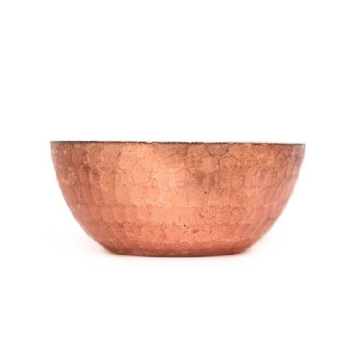 De Kulture Works Handmade Pure Copper Candle Bowl Votive T Light Holder Set of 3-2.5X1 DH (Inches) (Brown)