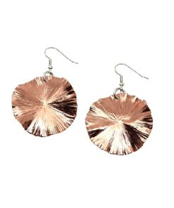 Lily Pad Copper Earrings By John S Brana Handmade Jewelry Anti-tarnish