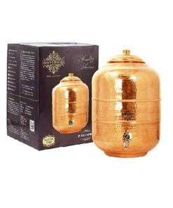 Indian Art Villa Handmade Pure Copper Water Dispenser, Storage Pot Tank | 219 ounce |for Kitchen, Home usage