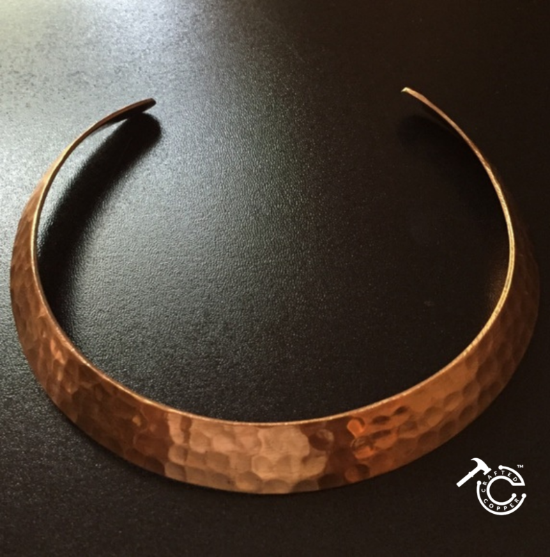 Hammered copper jewelry